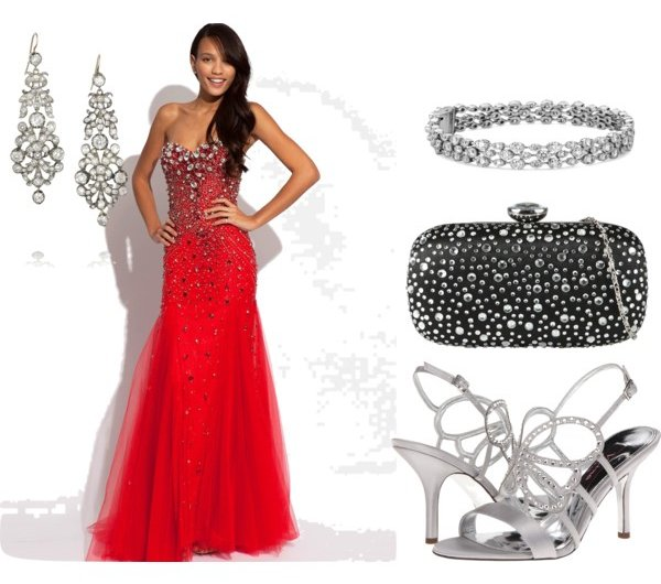 Red prom dresses how to choose the right one for you for How to match jewelry with prom dress